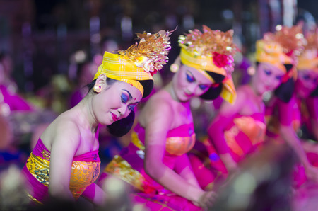 UBUD, BALI, INDONESIA - JUNE 09: Barong Dance show, the traditional balinese performance on June 09, 2014 in Ubud, Bali, Indonesia.