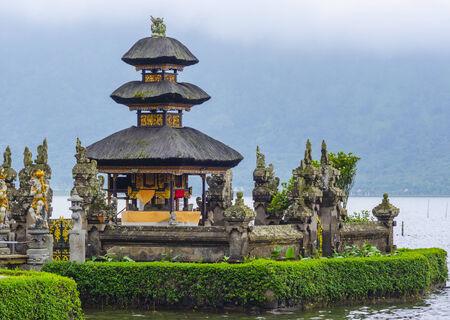 Pura Ulun Danu temple on a lake Beratan. Bali photo