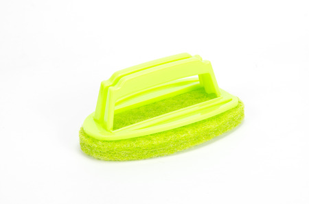 scrubber: Brush scrubber isolated over white background