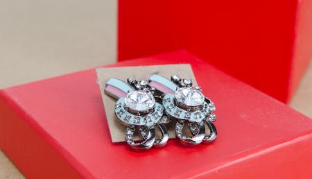 baroque pearl: crystal earrings