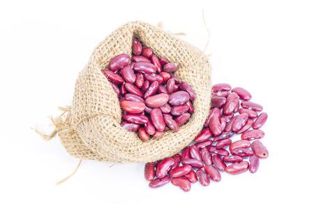 aduki bean: Beans - red isolated on white Stock Photo