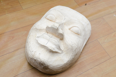 indian artifacts: mask from wood