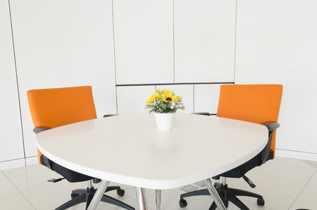 office space: Work space in a business office. Concept of time management