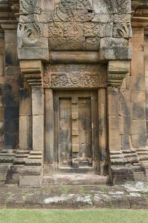 ancient architecture: old wall in Angkor Wat