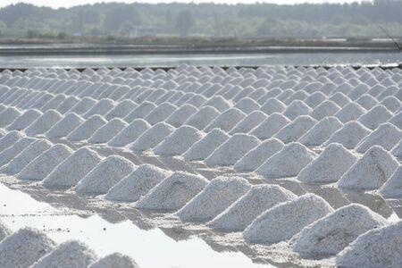 sal: Masa de sal en el mar salado granja de la sal, Tailandia ubicación