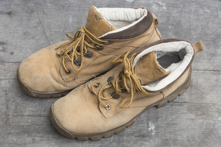 old leather: Old leather shoes Stock Photo