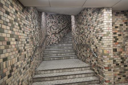 station m�tro: Escaliers dans une station de m�tro de P�kin