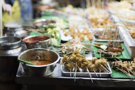 BBQ and Shabu-Shabu call Lok Lok on Kota Kemuning, Shah Alam, Selangor. The food stalls is one of famous local outdoor dinning in Malaysia.