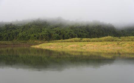 wetland conservation: Thailand natural lake, wetland conservation site, Sangklaburi Kanchanaburi