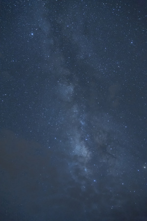 vulpecula: Milky Way ,Long exposure photograph. Stock Photo