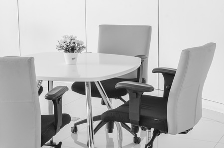 mobiliario de oficina: modernos muebles de escritorio de la oficina de trabajo de negocios