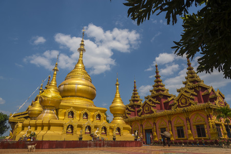 fascinate: Burmese style temple Located in the Ye city of Burma.