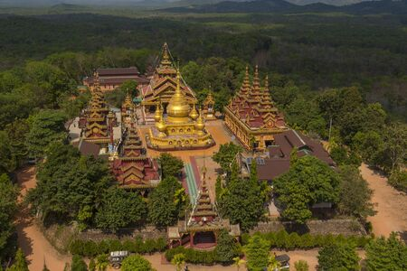 ye: Burmese style temple Located in the Ye city of Burma.