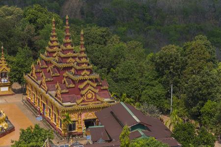 stupa one: the big burma temple on the hill