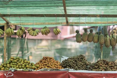 stalls: Fruit stalls in Laos