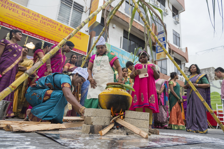 georgetown: Georgetown, Penang, Malaysia - JULY 4 : Heritage Celebrations 2015 EAT RITE:Rituals Foods of George Town. Tourists attention to Celebrations on the opening day. on July 4,2015 in Penang, Malaysia.