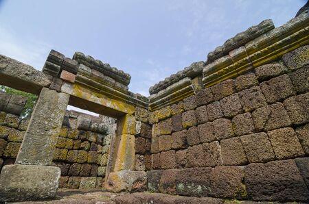 laterite: Laterite Brick wall texture. Antique Laterite brick wall. Stock Photo
