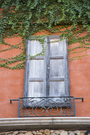 is covered: Walls covered with plants
