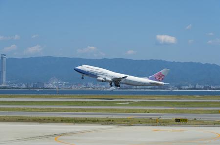 runways: passenger plane appoaching to landing on airport runways