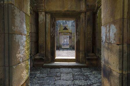 narrow: Red brick wall through foreword, Image of narrow room