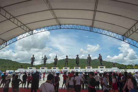 king ramkhamhaeng: Hua Hin,THAILAND- SEMPTEMBER 27,2015:View of the Rajabhakti park, seven kings of Thailand were constructed by the Royal Thai Army at Hua Hin on September 27,2015 in Hua Hin,Thailand
