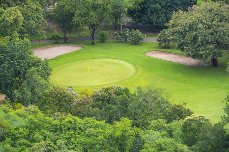 golf course: top view of golf club