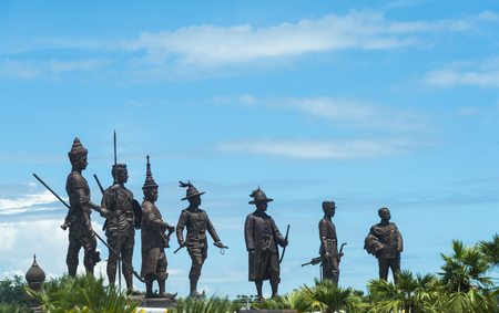 the majesty: Hua Hin, THAILAND - November 18,2015: Ratchapak Park and the statues of seven former Thai kings were constructed by the Royal Thai Army under royal permission from His Majesty King Bhumibol Adulyadej.
