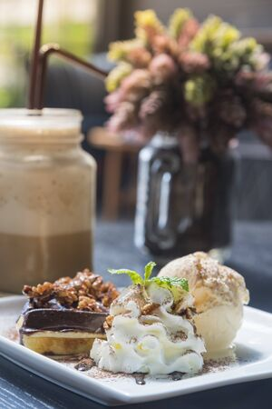 food and drink: food and drink in coffee shop Stock Photo
