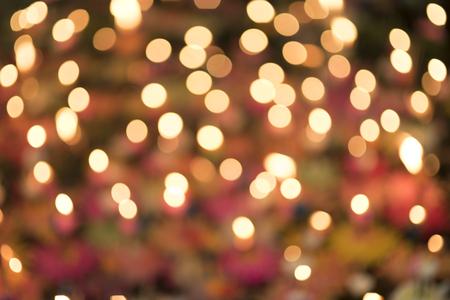 Lights on bokeh Loy Krathong festival background