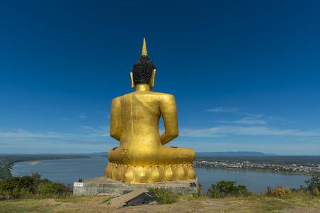 mekong: Big Buddha Mekong River . Stock Photo