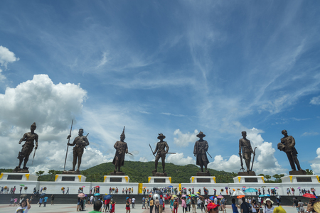 king ramkhamhaeng: Hua Hin,THAILAND- SEMPTEMBER 27,2015:View of the Rajabhakti park, seven kings of Thailand were constructed by the Royal Thai Army at Hua Hin on September 27,2015 in Hua Hin,Thailand