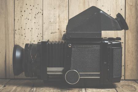 medium body: Moscow, Russia - March 09, 2016: Medium format analog camera. Vintage object. Mamiya RB67 Professional .