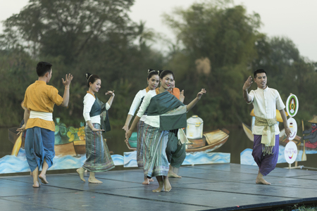 manora: BANGKOK THAILAND- MARCH 24: Thai Dance Show in religious ceremony, Native Art of Thailand on March 24, 2016 in Bangkok, Thailand