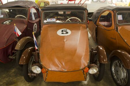 nakhon pathom: NAKHON PATHOM, THAILAND - December 17, 2015 : Ola vintage car in Jesada Technik Museum is the biggest vehicle museum in Thailand and in the region.