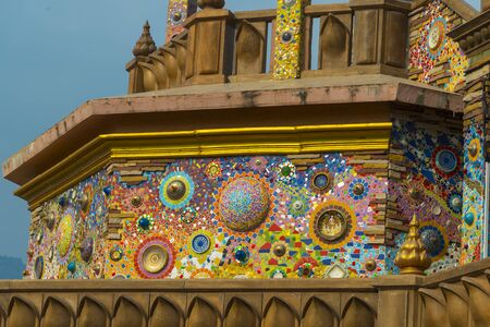 temple thailand: Colorful crystal background art Phasornkaew Temple Khao Kho, Phetchabun,Thailand