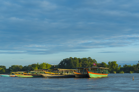 view of Khong river, Laos
