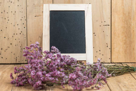 use: black board with flower for use