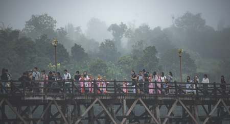 Wooden bridge - Kanchanaburi - Thailand,2016 - The wooden bridge was built across Songaria rivervby local villager to connect between Thai and Mohn people. The old one was vanished by big flood.
