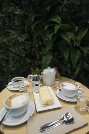 coffee and crep cake