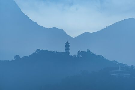taiwan scenery: layers of mountain in Taipai, Taiwan Stock Photo