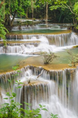 kanchanaburi: Huay Mae Kamin Waterfall at Kanchanaburi province, Thailand