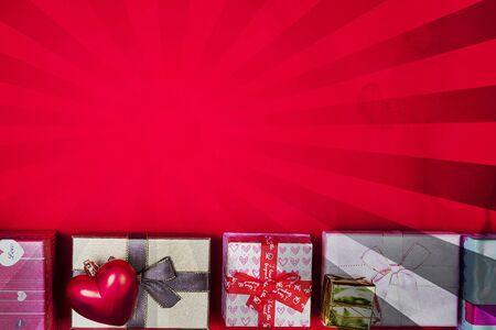 box set: gift box set on background Stock Photo