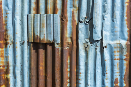 Background texture of the old zinc sheets. Stock Photo