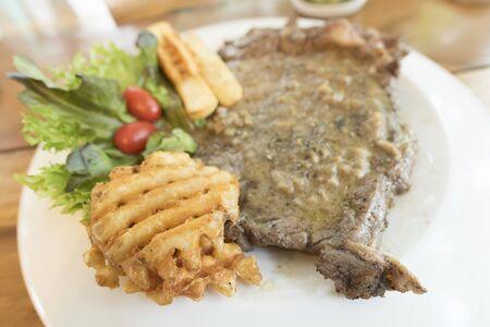 medium: beef steak Stock Photo