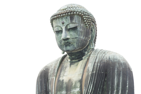 Japanese Buddha statue, isolate on white