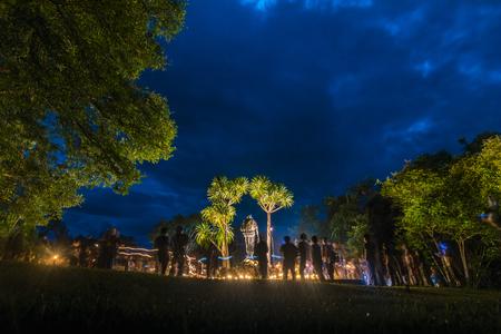 HUAI KHA KHAENG, THAILAND - September 1 : Seub Nakhasathien statue monument at Huai Kha Khaeng wildlife sanctuary, he is the great Conservationist of Thailand's natural resources, on September 1, 2017 Editorial
