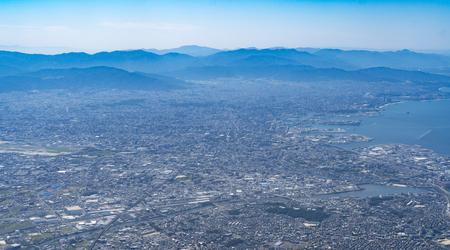 bird eye view of Fukuoka cityscape