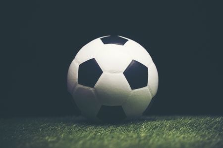 Soccer ball used for the 2018 Stock Photo