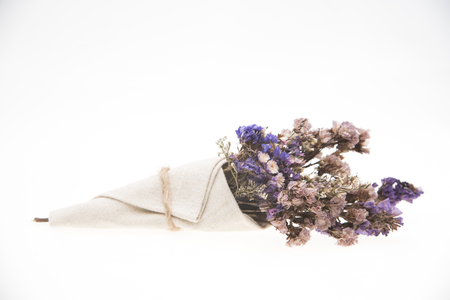vintage flower isolated on white background