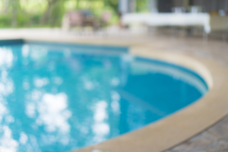 blurry background of swimming pool view